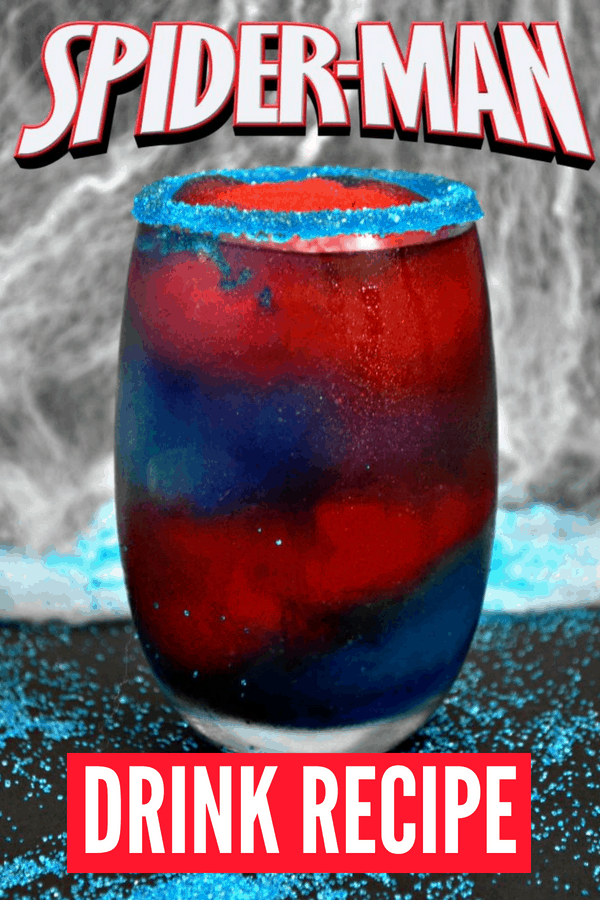 Make this SpiderMan Frozen Drink for your next Avengers party or Marvel movie-watching party. Also perfect for SpiderMan party ideas!
