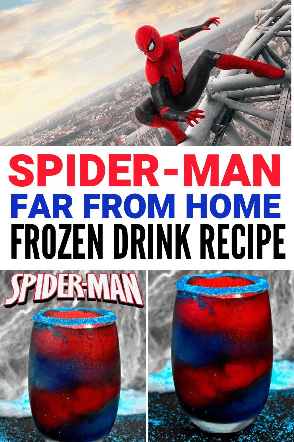 Spider-Man Far From Home Frozen Drink Recipe