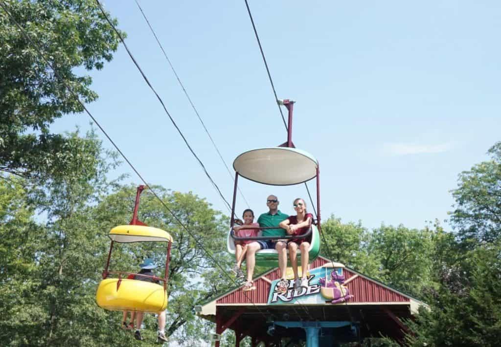 Dutch Wonderland Sky Ride for families.