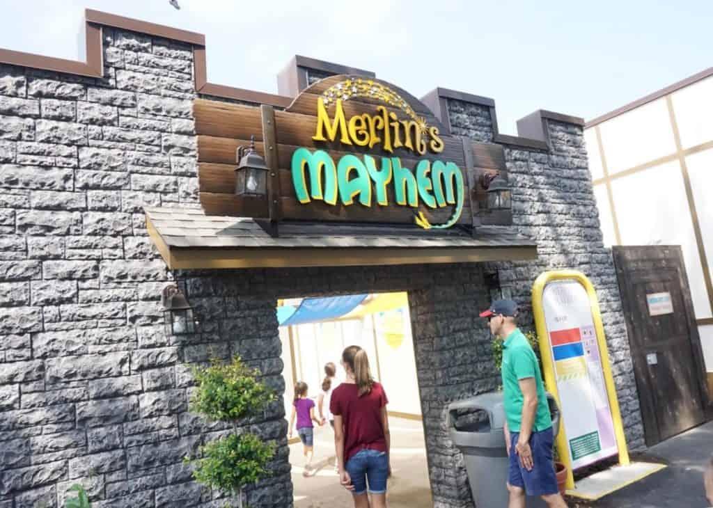 Dutch Wonderland's newest coaster- Merlin's Mayhem!