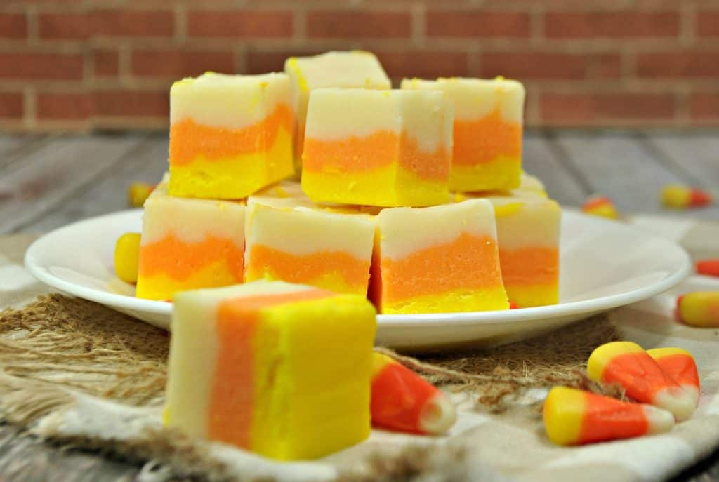 Easy candy corn fudge recipe