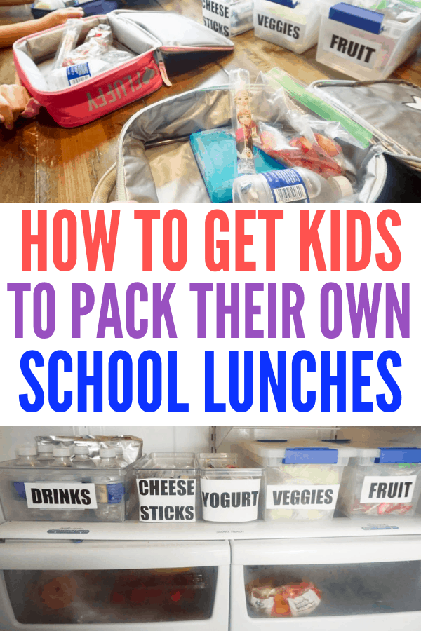 Make packing school lunches easy with this organization system! Your kids will want to pack their own and help the busy school mornings run smoother.