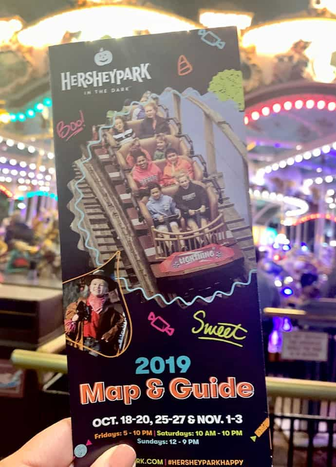 Hersheypark in the Dark park map