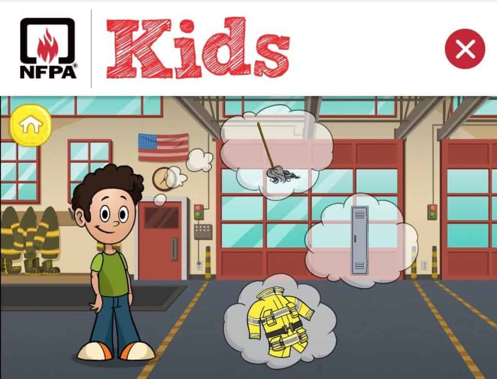 Play make believe in a firehouse with Sparky the Firedog in these fire prevention week games.