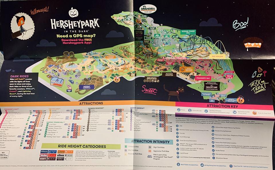 Hershey Halloween park map