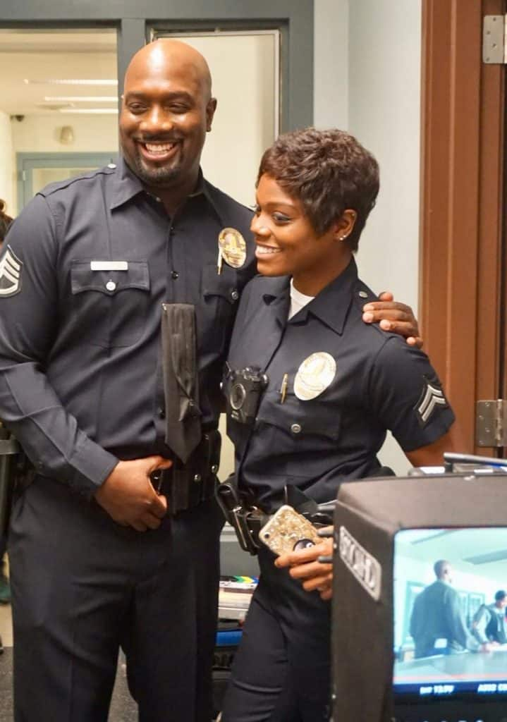Afton Williamson and Richard T. Jones - part of The Rookie cast