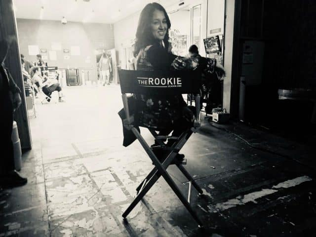 On set of The Rookie