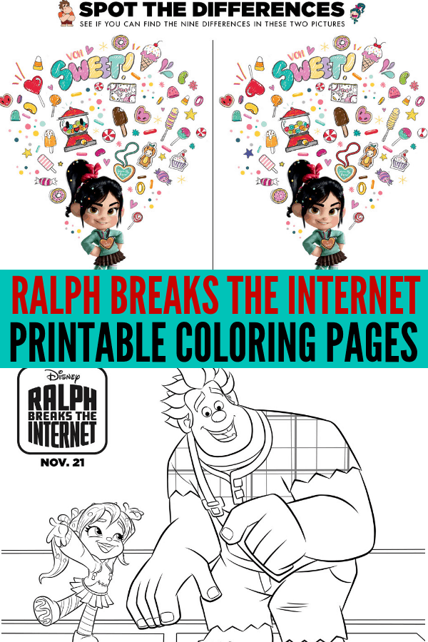 Ralph Breaks the Internet Free Printable Coloring Pages