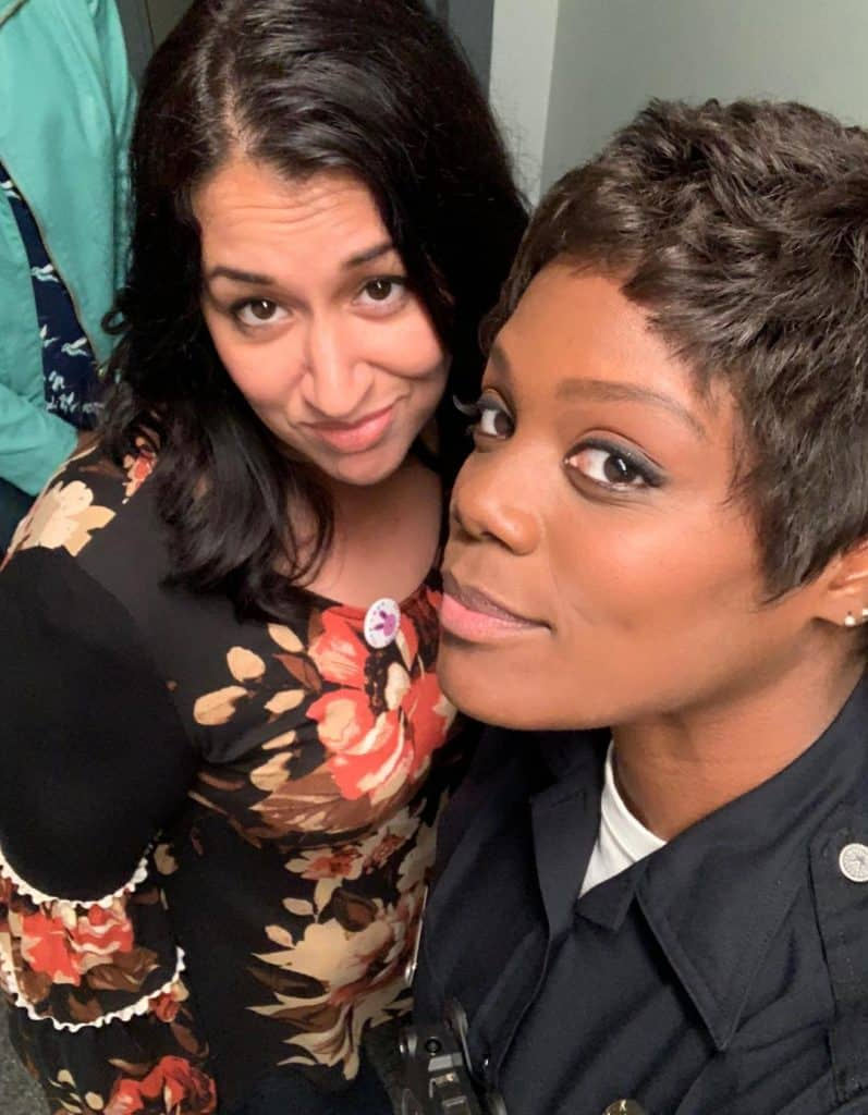 Selfie with Afton Williamson from the set of The Rookie