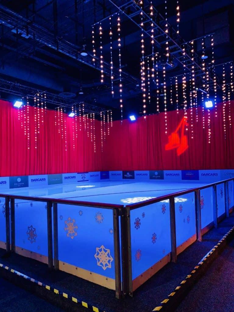 Gaylord Christmas Village ice skating rink