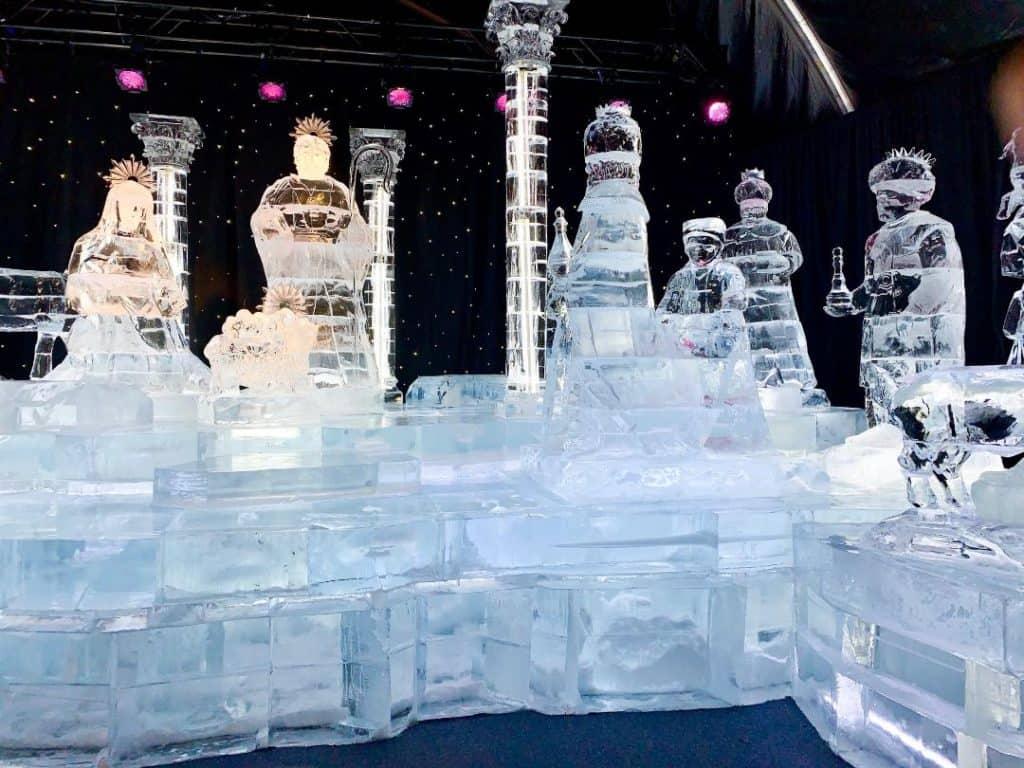 Gaylord Ice Nativity scene