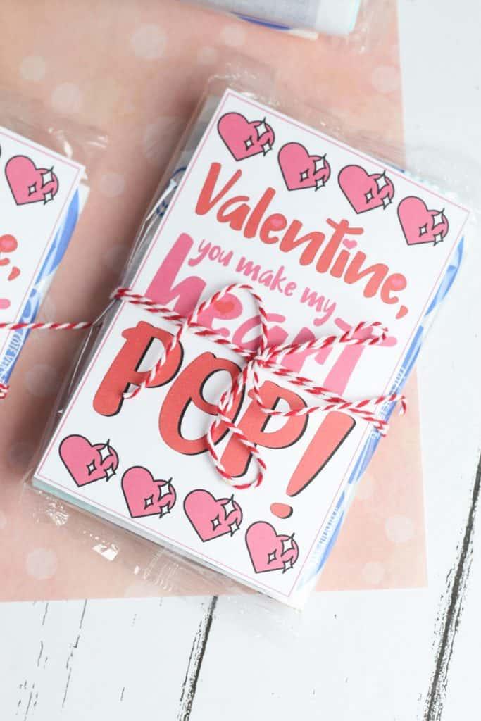 Free printable Popcorn Valentine Printables for kids