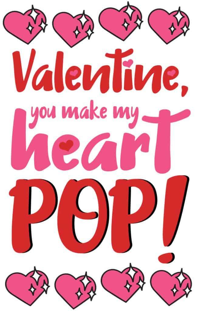 Popcorn Valentine Printable