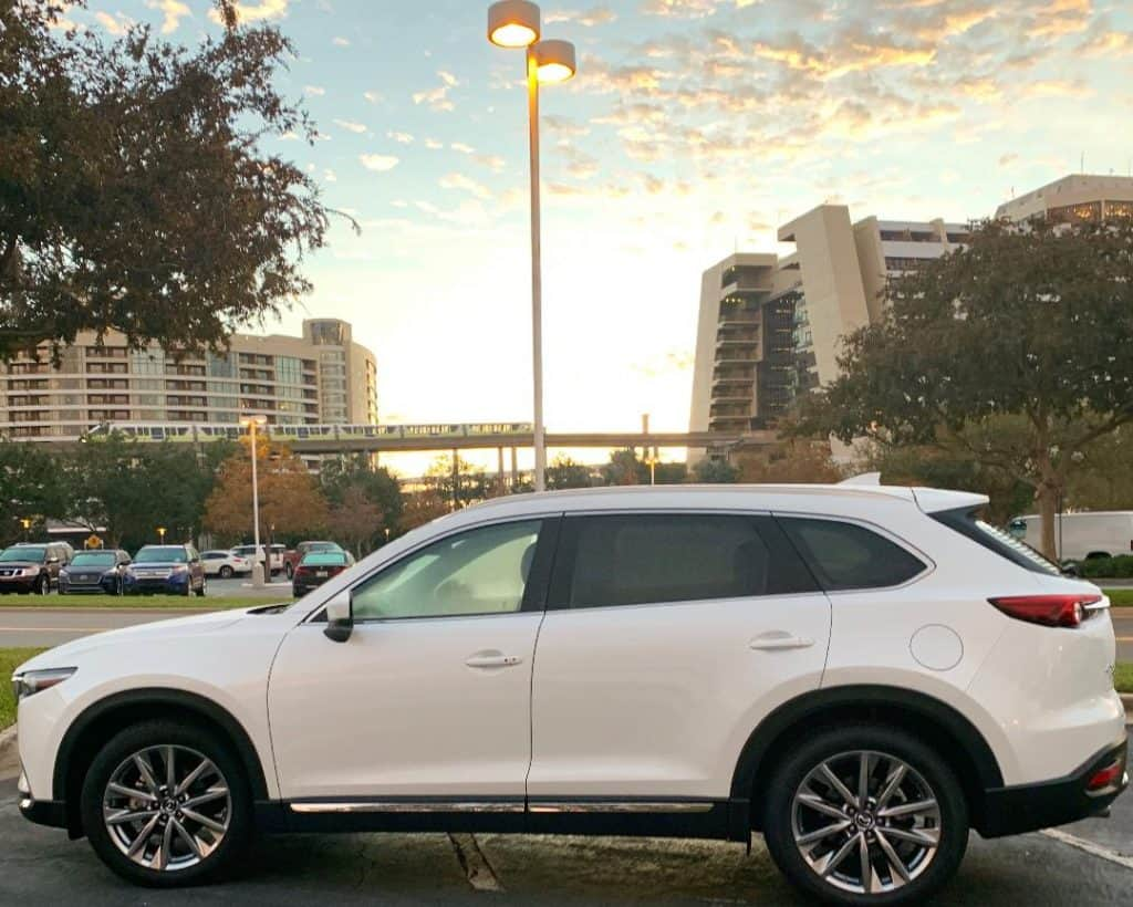 The Mazda CX-9 is great for families of 5 or less!