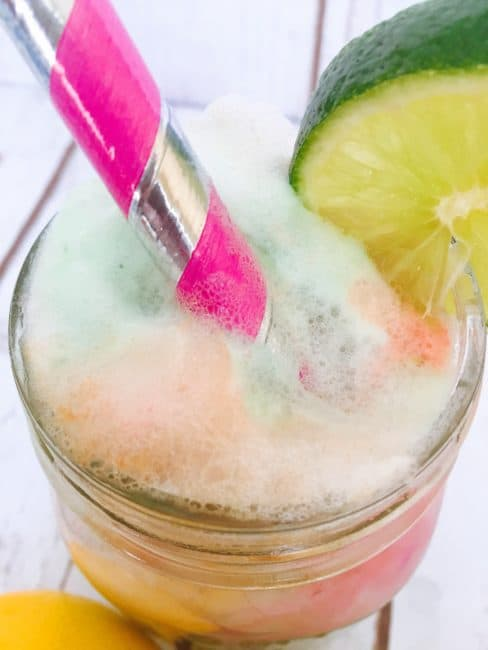 Rainbow Sherbet Punch for St. Patrick's Day