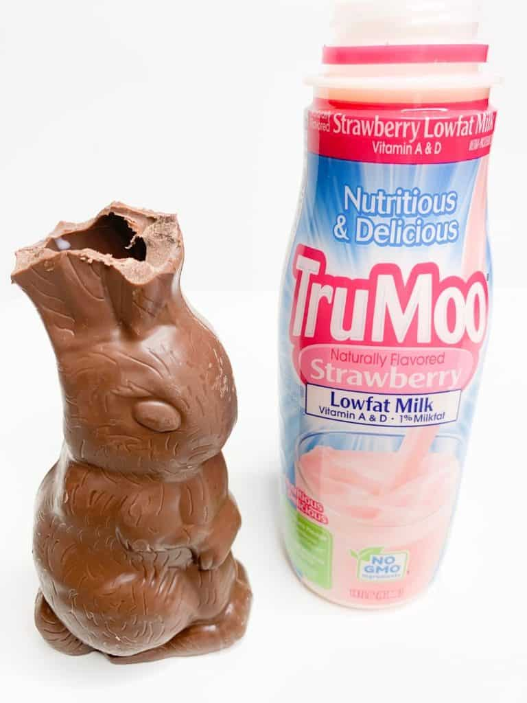 Does a chocolate bunny filled with strawberry milk taste good?
