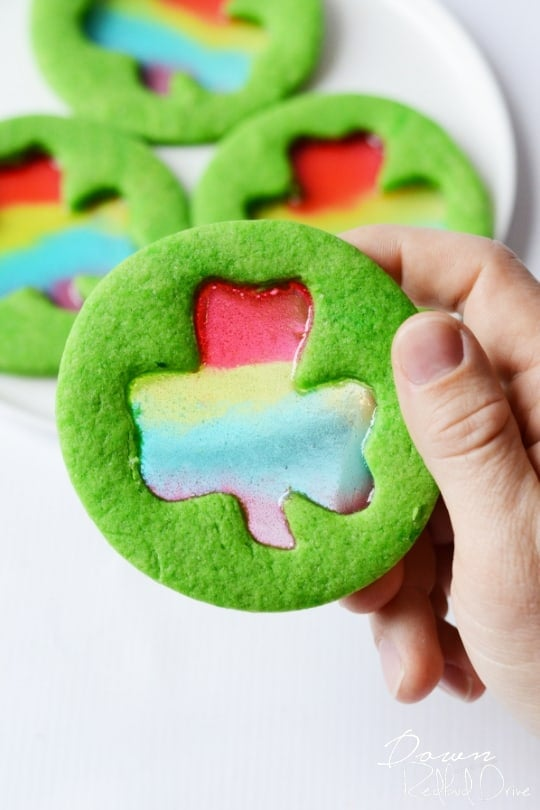 The best St. Patrick's Day Desserts include Rainbow Shamrock Cookies