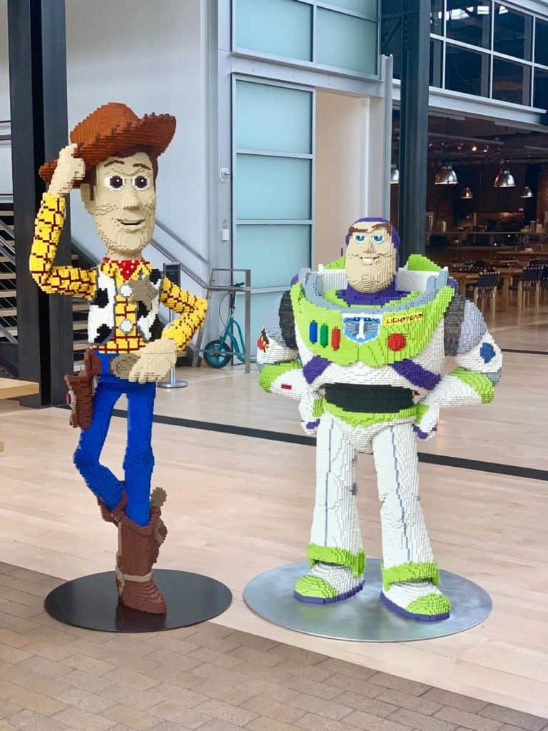 LEGO Buzz Lightyear and Woody at Pixar Animation Studios