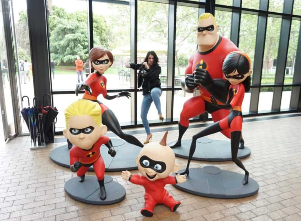 Pixar Studios Tour includes the Lobby with The Incredibles