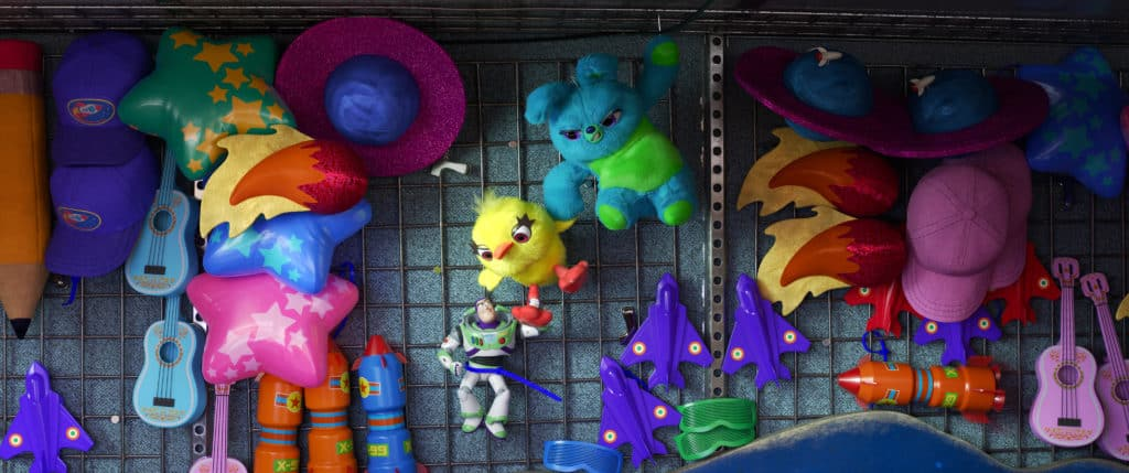Ducky and Bunny fight scenes in Toy Story 4