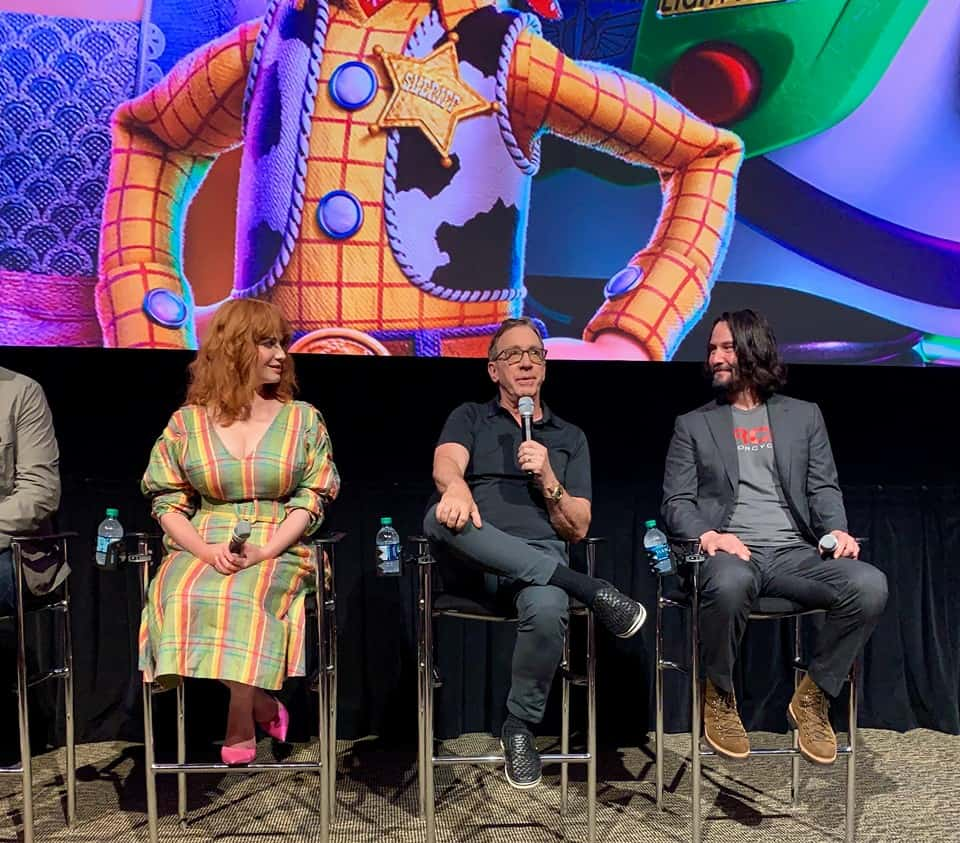 Interview with Keanu Reeves, Christina Hendricks, Tim Allen Toy story 4