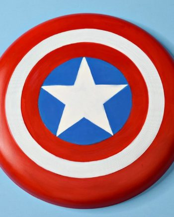 DIY Captain America Frisbee