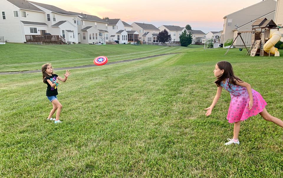 Play outside with your own Captain America Frisbee.