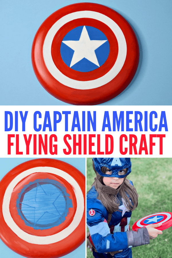 DIY Captain America Flying Shield Frisbee
