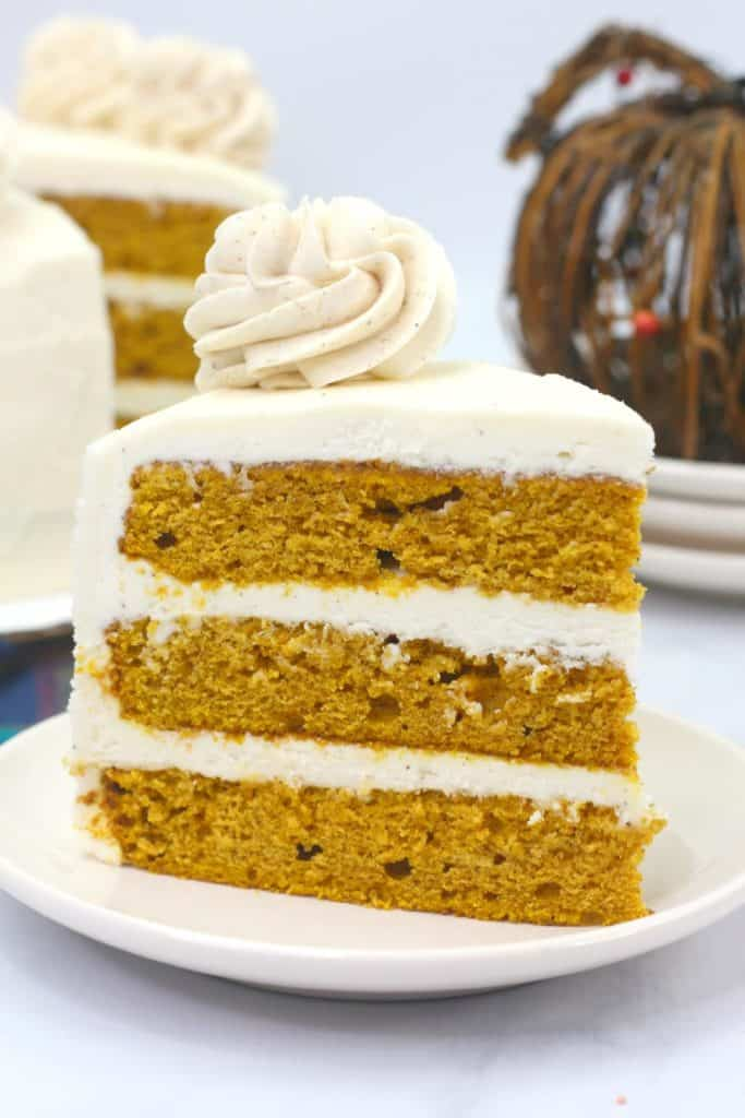 Pumpkin Layer Cake with Cinnamon Cream Cheese Frosting