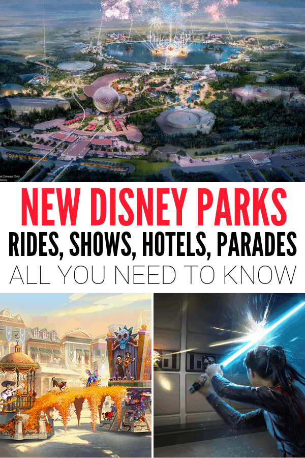 New Disney Parks Announcements including rides, shows, parades, and food!