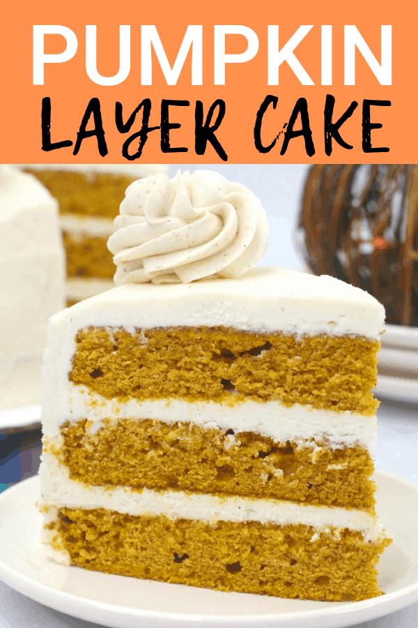Fun fall recipe for pumpkin layer cake!