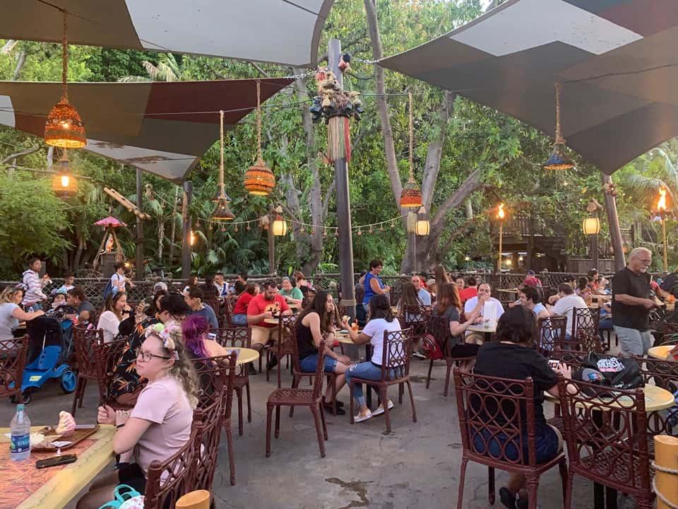 Seating at The Tropical Hideaway Disneyland