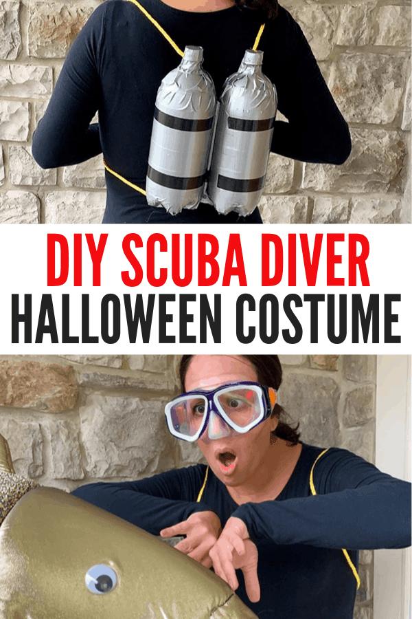 DIY Scuba Diver costume instructions