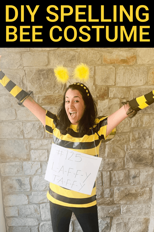 How to make a DIY Spelling Bee Costume