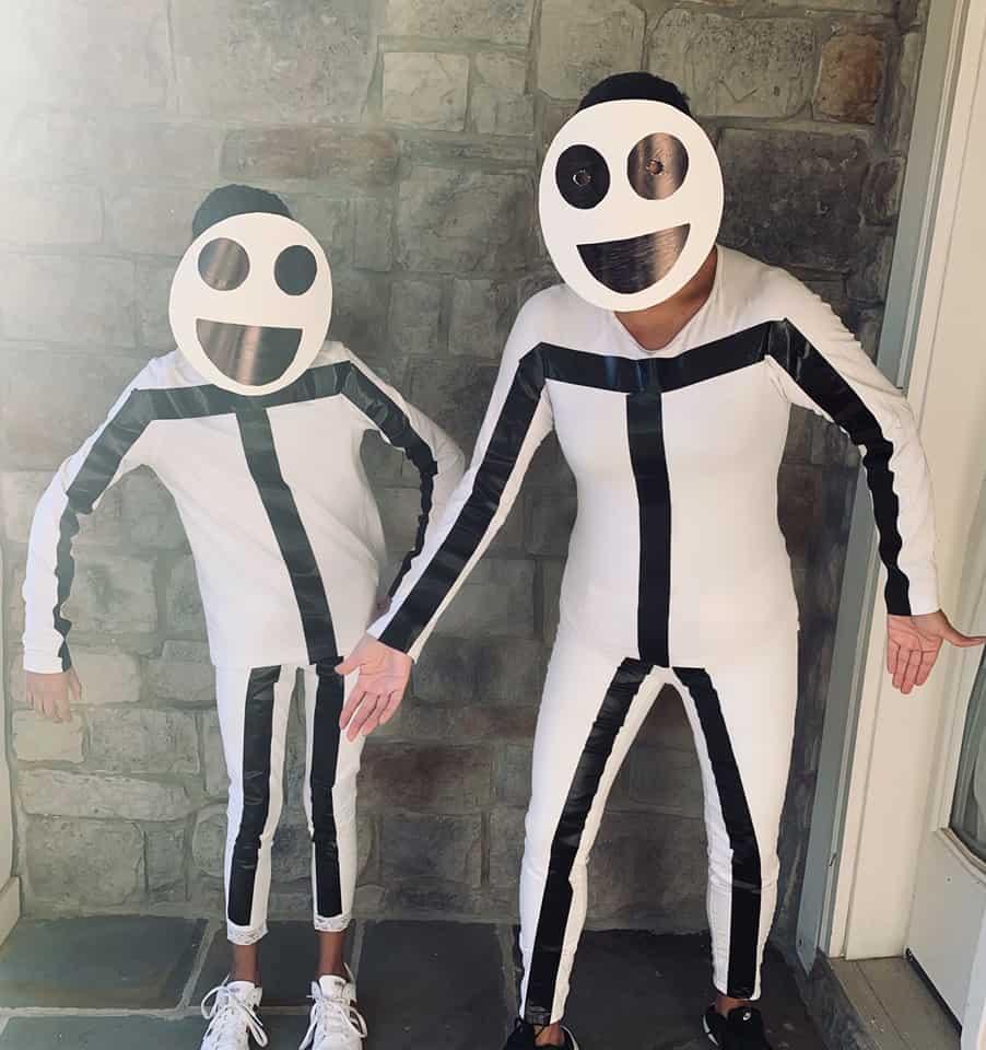 DIY Stick Figure Halloween costumes
