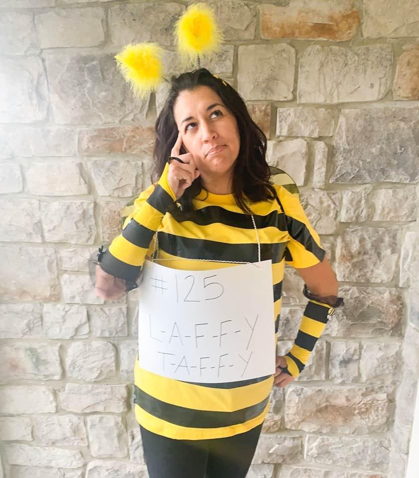 DIY Thinker Spelling Bee costume