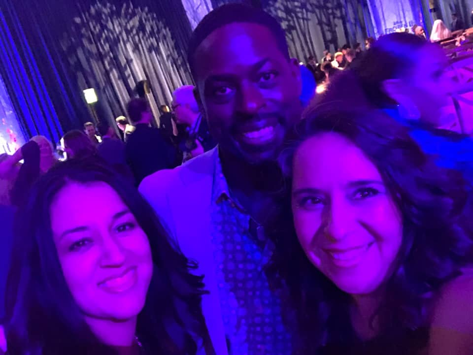 Selfie with Sterling K. Brown at Frozen 2