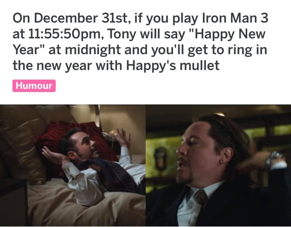 Iron Man New Years Eve Meme