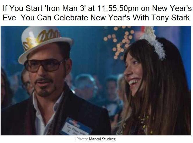 Marvel New Years Meme