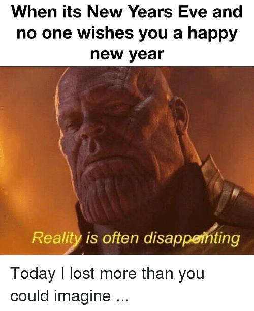 Thanos New Years Eve Meme