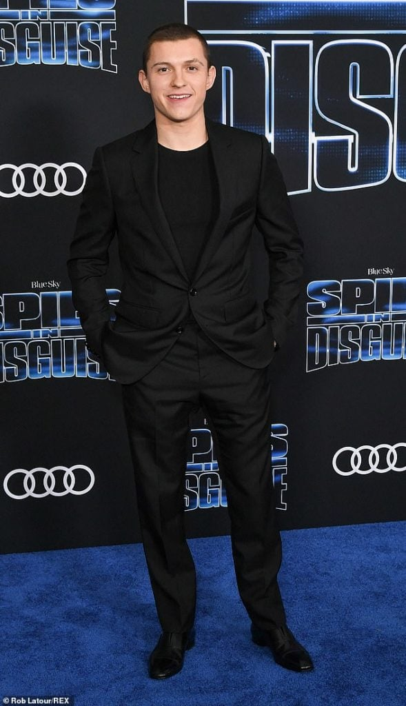 Tom Holland Spies in Disguise Premiere