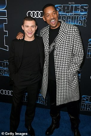 Will Smith and Tom Holland Spies in Disguise Premiere