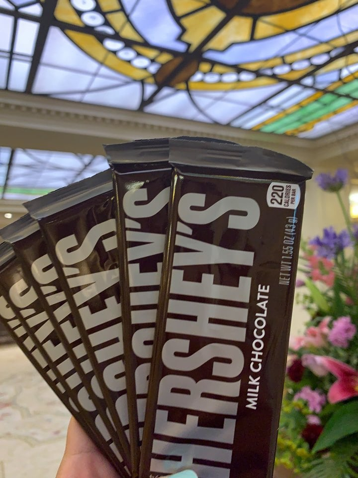 Free Hershey's chocolate at check-in at The Hotel Hershey