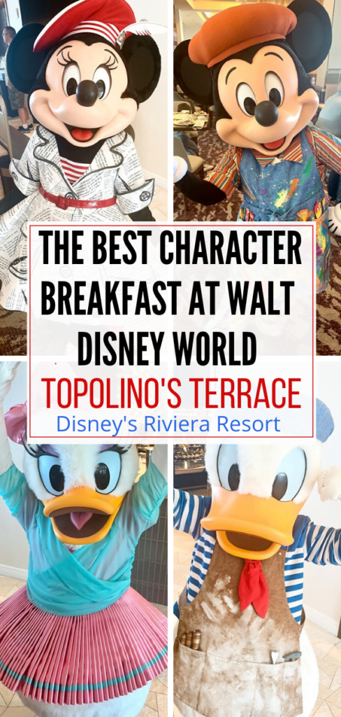 The Best Character Breakfast at Disney World -Topolino's Terrace