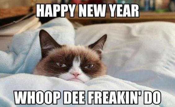 Grumpy Cat New Year Meme