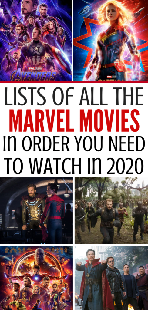Every List of All of the Marvel Movies in Order You Need For 2020