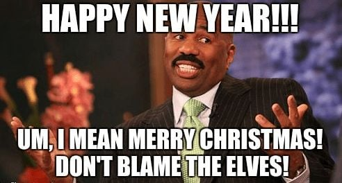 Steve Harvey New Year Meme