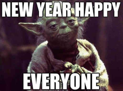Yoda New Year meme