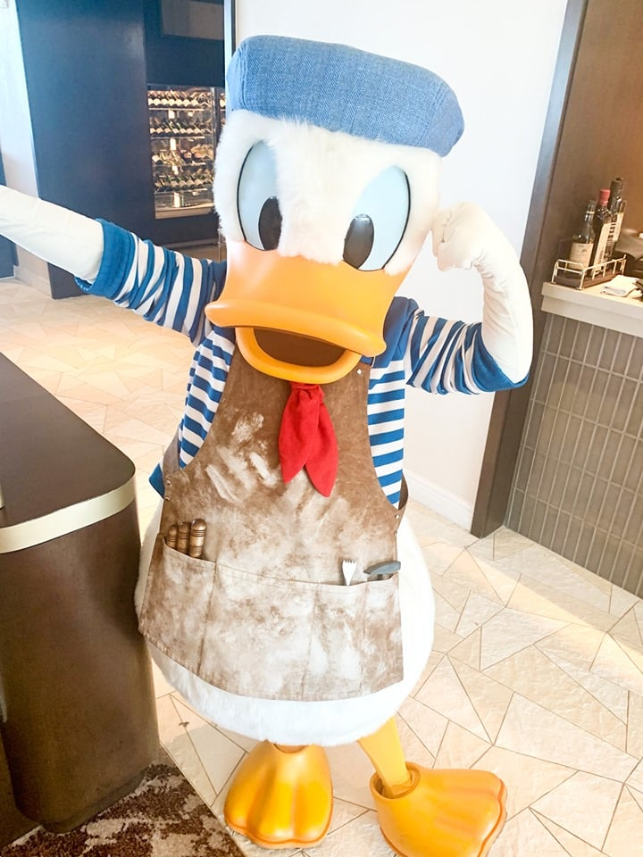 Donald Duck Topolino's Terrace Character Breakfast Review Disney World