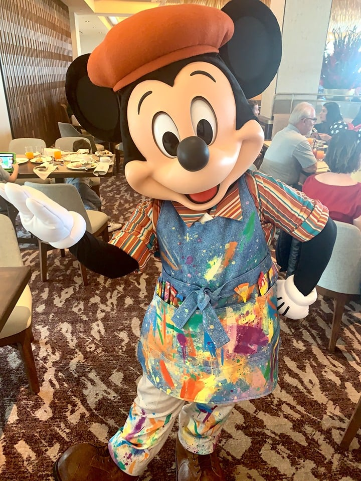 Mickey Mouse at Topolino's Terrace Breakfast